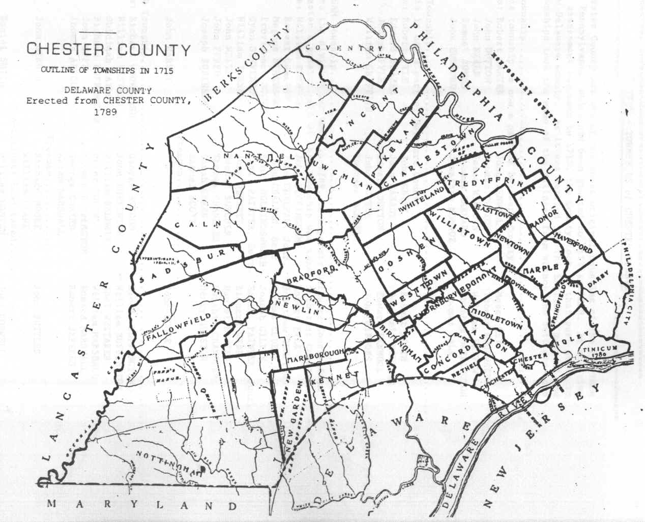 Chester County Pennsylvania Maps on